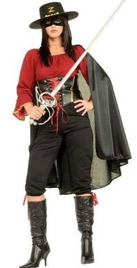 womens creative halloween Zorro costumes