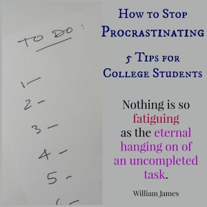How to Stop Procrastinating Tips for College Students
